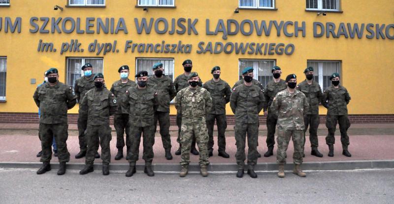 Zastępca dowódcy Centrum Szkolenia  Sił Połączonych NATO z wizytą W CSWL Drawsko