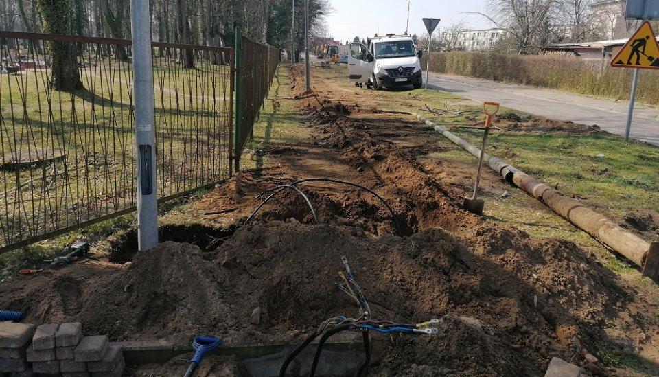 Trwają prace przy ul. Witkiewicza