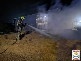 Pożar w zakładzie produkcyjnym w Suliszewie