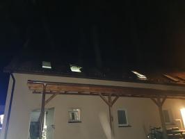 Pożaru poddasza w hotelu - ewakuowano 11 osób