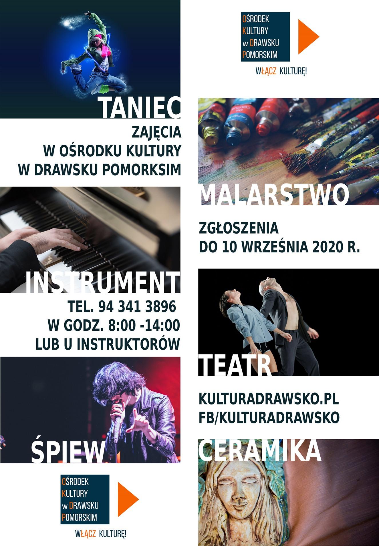 Ośrodek Kultury w Drawsku Pomorskim zaprasza na zajęcia